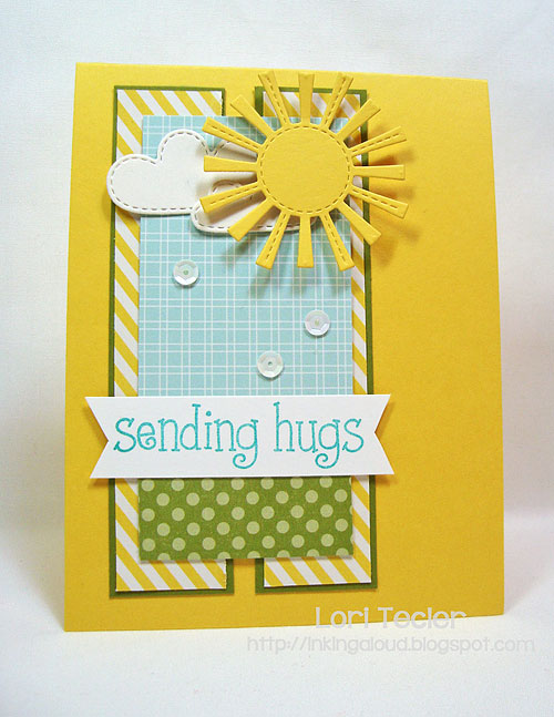 Sending Hugs-designed by Lori Tecler/Inking Aloud-stamps and dies from Lawn Fawn