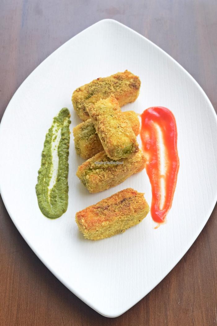 Paneer Papad Fingers - Easy Starter Recipe - पनीर पापड़ फिंगर्स - आसान स्टार्टर रेसिपी - Priya R - Magic of Indian Rasoi