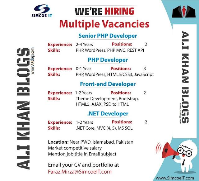 Simcoe IT Jobs - Senior PHP Developer, Front-end Developer, .NET Developer - Islamabad - April 2018