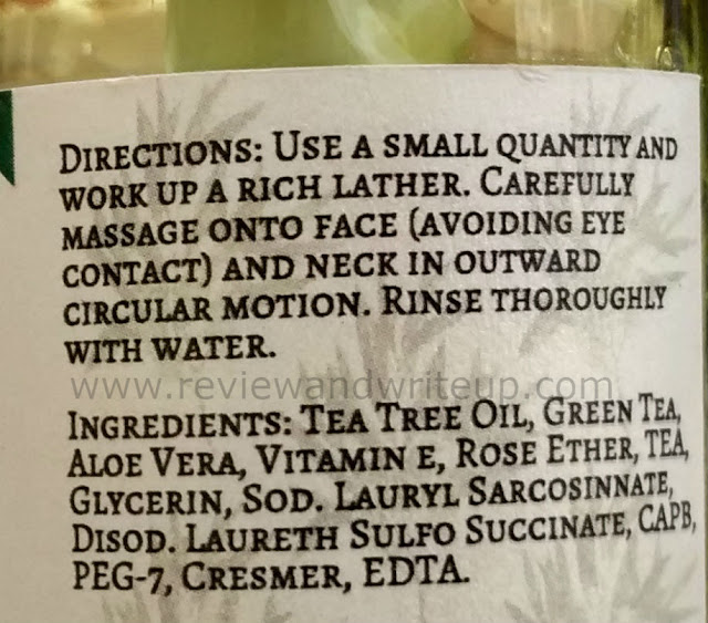 aloevera, tea tree oil face wash