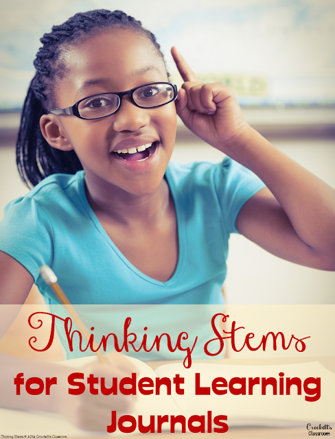 Great tips for keeping your students engaged with reading journals.  These thinking stems are designed to challenge and engage students as they interact with text.