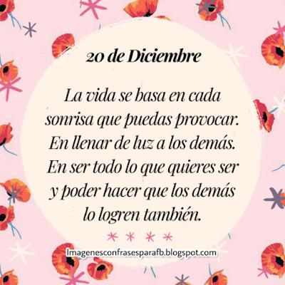 Frases del día 20 de Diciembre
