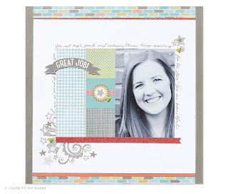 Zoe Paper Scrapbook Layout