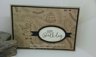 Paperjay Crafts, Stampin Up Birthday Memories, Crumb Cake
