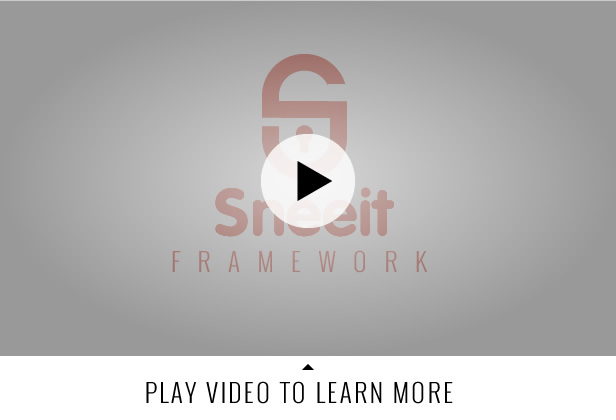 Sneeit Framework Plugin - Back-End for WordPress Themes - best for developers