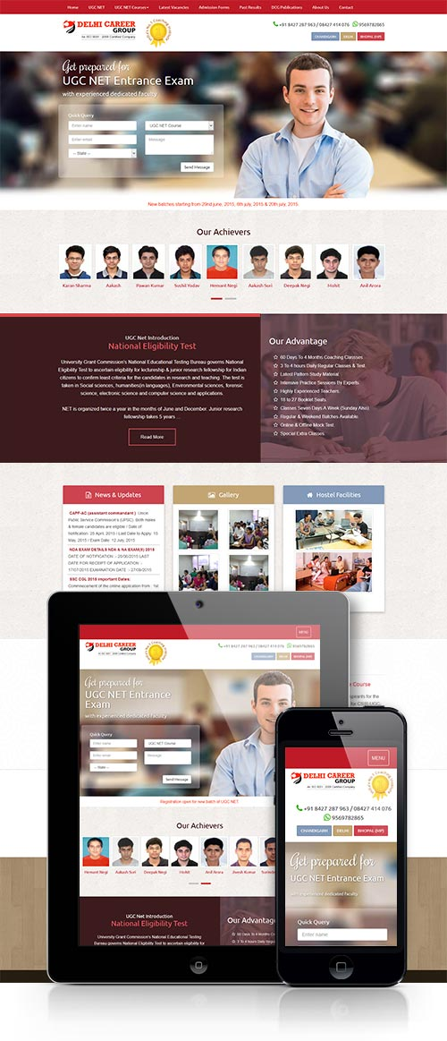 UGC NET Coaching website design