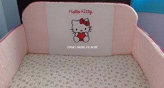 Protector de cuna Hello Kitty bebé
