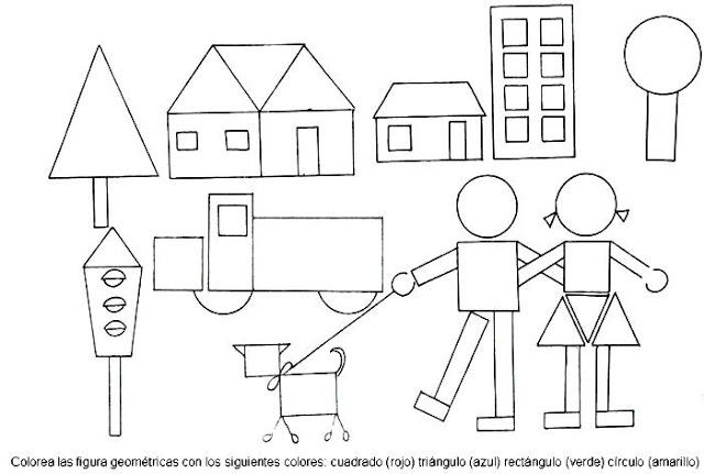Figuras Geométricas Dibujos Para Colorear Ciclo Escolar