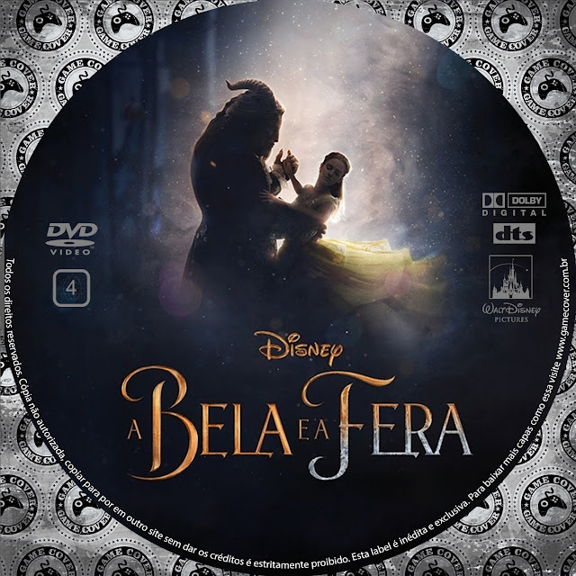 Label DVD A Bela E A Fera 2017 [Exclusiva]