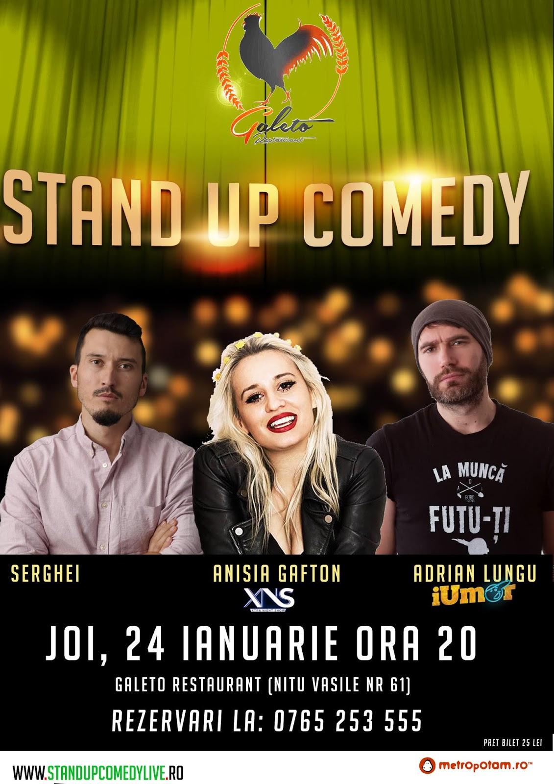 Stand-Up Comedy Bucuresti Joi 24 Ianuarie 2019
