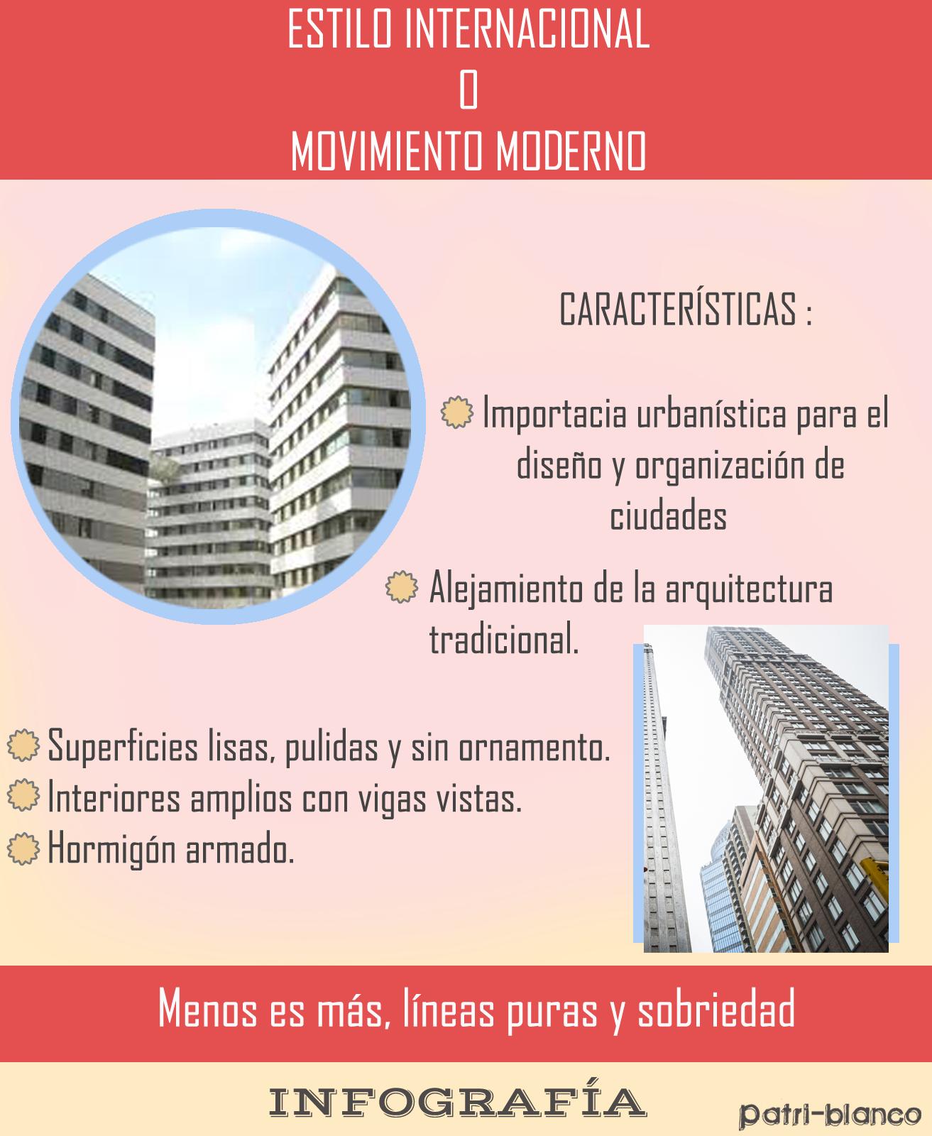 Estilo (XXV) internacional o movimiento moderno