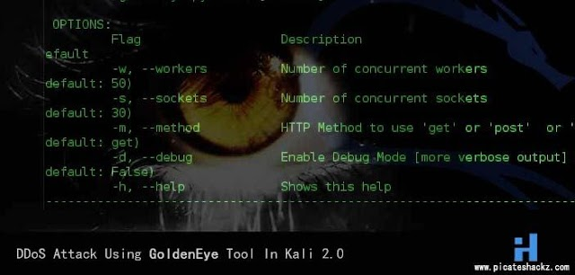 Cara DOS Website dengan Golden Eye di Kali Linux