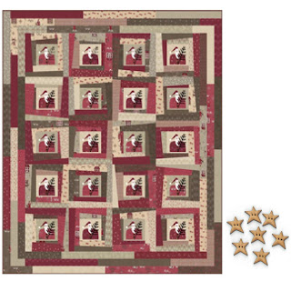 Lynette Anderson Designs WONKY SANTA Quilt Pattern + Wonky Star Buttons