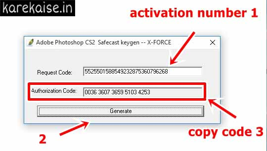 photoshop cs2 serial number activation code