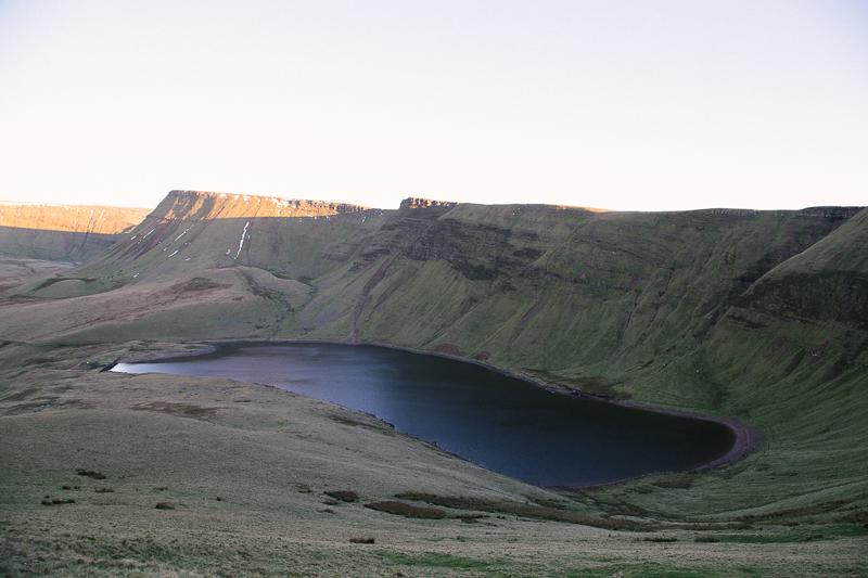 Brecon beacons landscape usk reservoir Llyn y Fan Fach