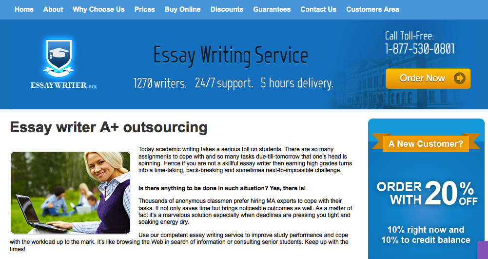 Essaywriter org review