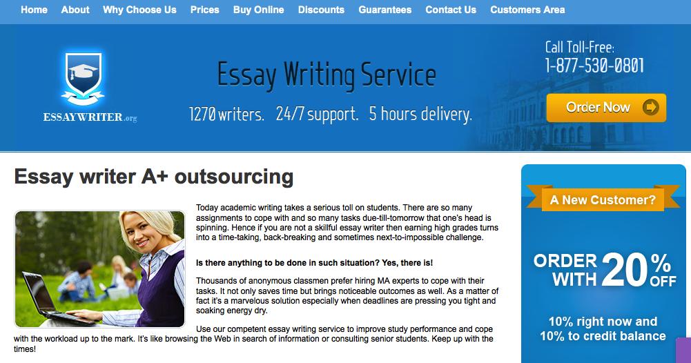 Essay writer org