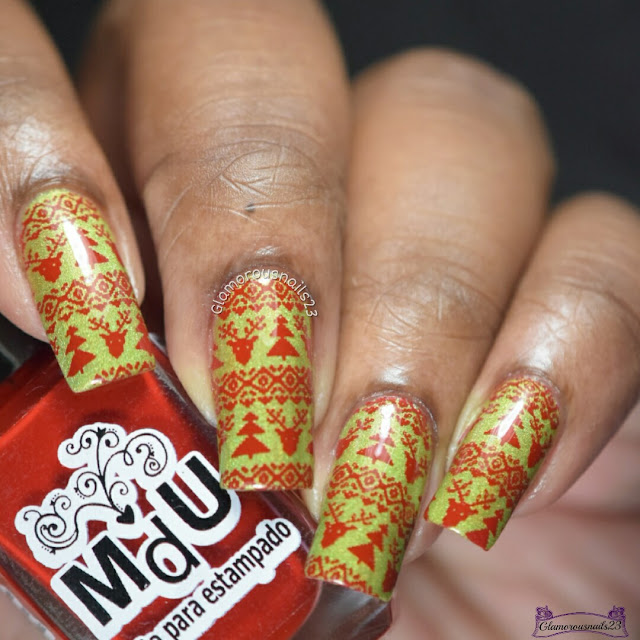 Winter Nail Art Challenge Day 15 - Ugly Sweater