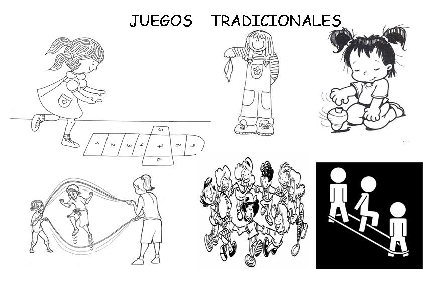 Dibujos Para Colorear De Juegos Tradicionales De Venezuela