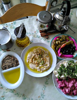 traditional Palestinian suhur (breakfast) meal