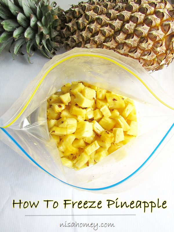 how to freeze pineapple 2