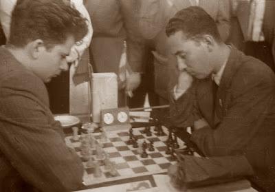 Partida Spassky-Ballbé en el II Campeonato Mundial Universitario de Ajedrez Lyon 1955