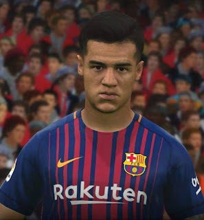 PES 2017 Faces Philippe Coutinho by FaceEditor Jefferson_SF