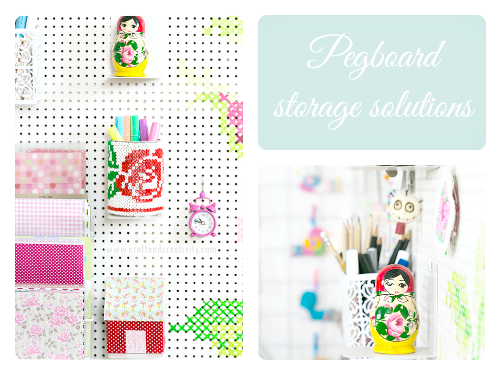 Pegboard storage ideas