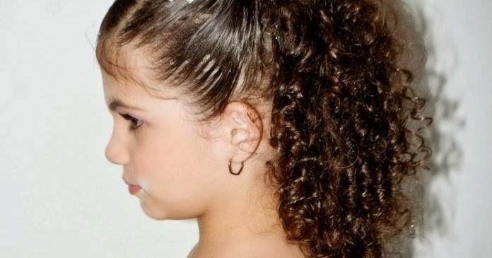 Penteados Para Daminhas Com Cabelos Cacheados Penteados