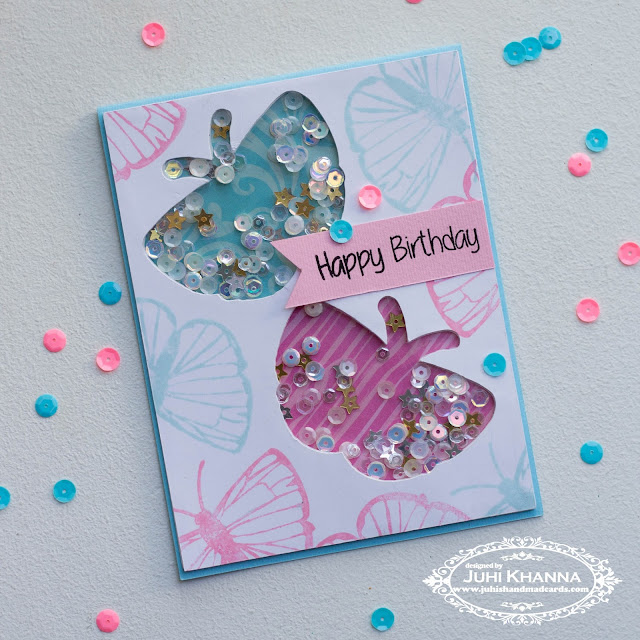 Butterfly Shaker Card