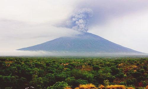 Agung Volcano Eruption