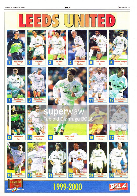 POSTER LEEDS UNITED 1999