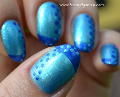 blue on blue manicure