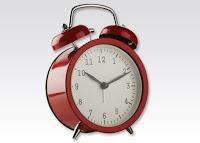 Zegar z budzikiem wskazówkowy retro z Biedronki
