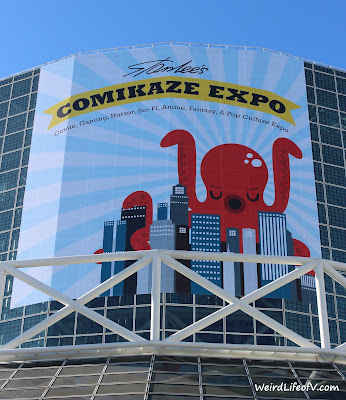 Stan Lee's Comikaze Expo banner on top of the LA Convention Center 2015