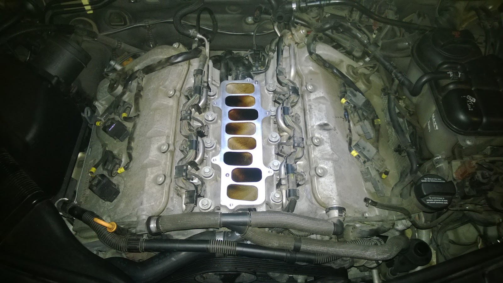 Before taking out lower manifold.