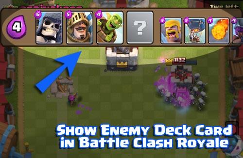 Cara Melihat Semua Kartu Deck Lawan Saat Battle clash royale