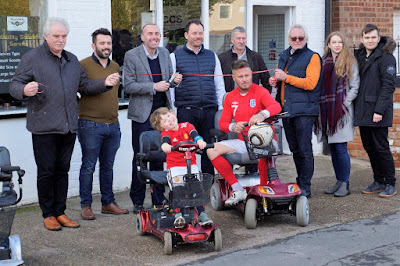 The official opening of the Brigg Mobility shop in the town centre 2018 - picture used on Nigel Fisher's Brigg Blog