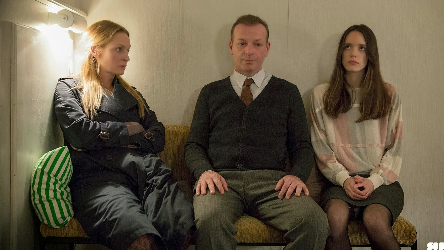 Uma Thurman as Mrs. H, Hugo Speer as Mr. H, Stacy Martin, in Nymphomaniac, Directed by Lars von Trier