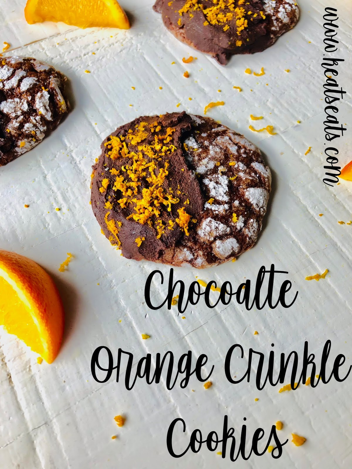 Chocolate Orange Crinkle Cookies