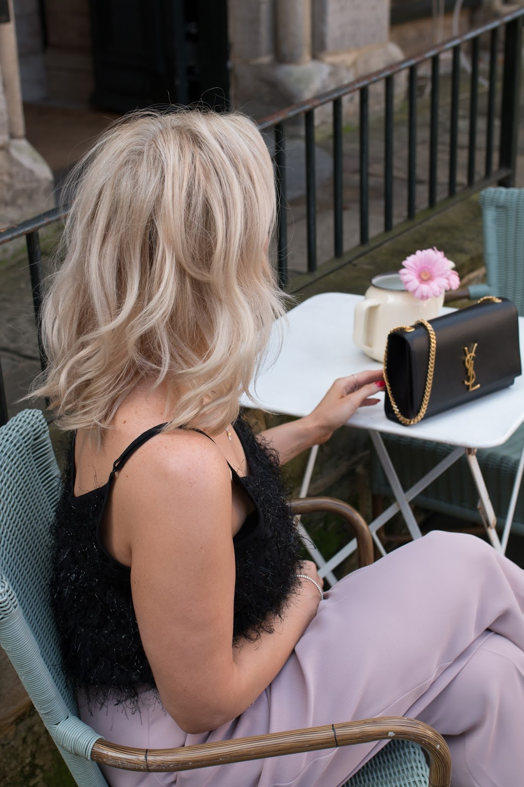 Fashion blogger and YSL Kate Monogram bag