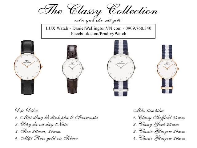 Các mẫu tiêu biểu của DW Classy