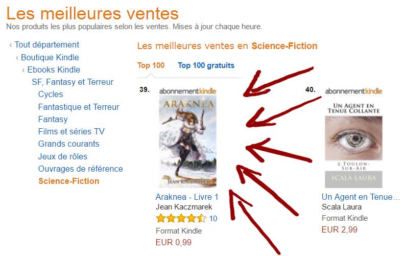 Top50 Amazon Payant Pour L Ebook De Mon Roman Fantasy