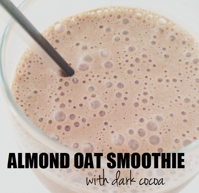 recipe: almond oat smoothie