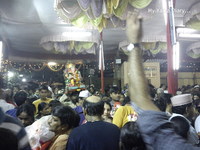 Ganpati idols being brought for visarjan