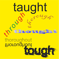 Diferencias entre thought, taught, through, though, tough, thorough y thoroughout, confusing words, palabras confusas en inglés, curso de inglés, aprender inglés, inglés