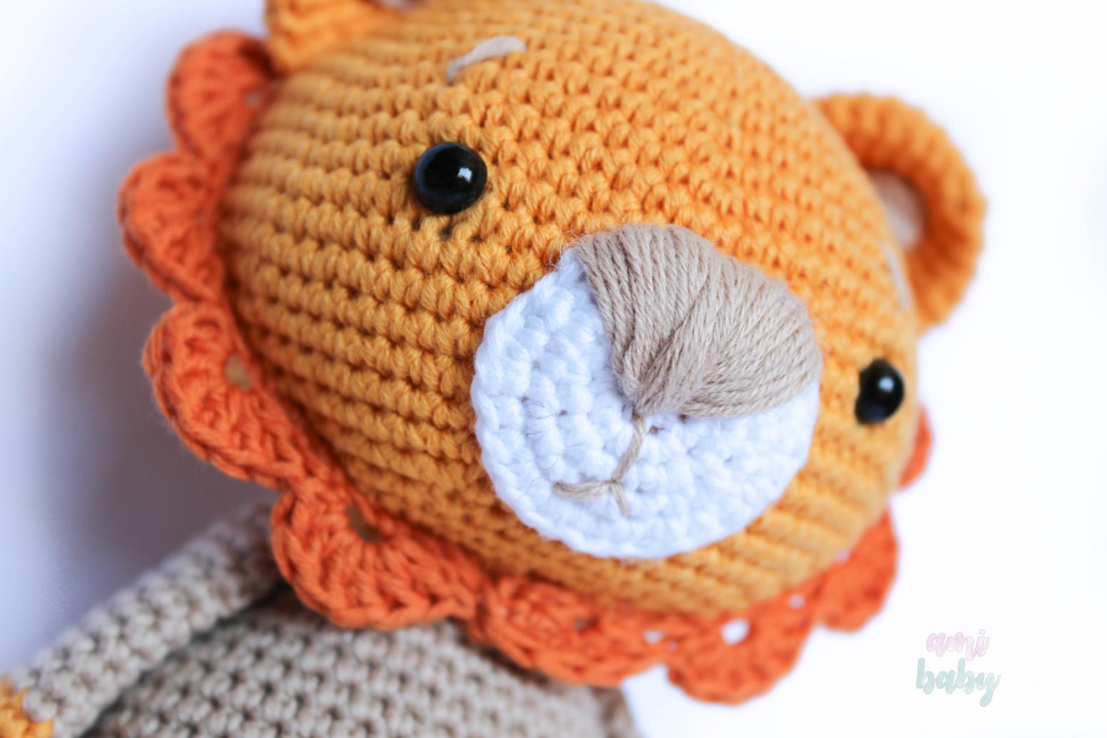 Patrón Oskar el león de Amalou.Pattern Amalou Oskar the lion. - amibaby