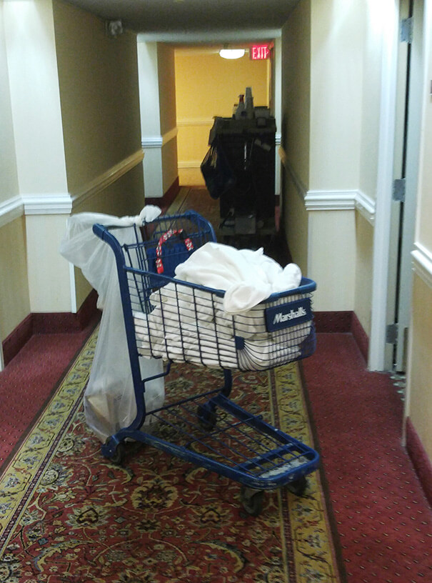 30 Hilarious Hotel Failures That Will Make Your Day - The Housekeeping Cart At My Hotel Is A Stolen Shopping Cart
