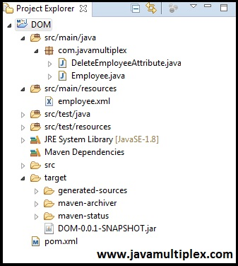 Java XML DOM Parser Structure part 9