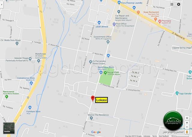 Tanah Pekarangan Tepi jalan Wiyoro, Banguntapan